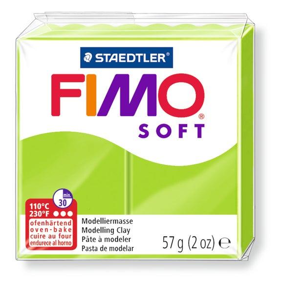 Achat en ligne Pâte à modeler à cuire vert pomme Fimo Soft 8020-50 57g