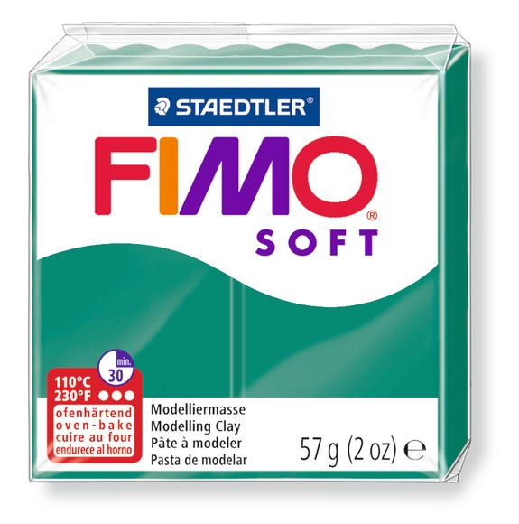 Achat en ligne Pâte à modeler à cuire vert sapin Fimo Soft 8020-56 57g