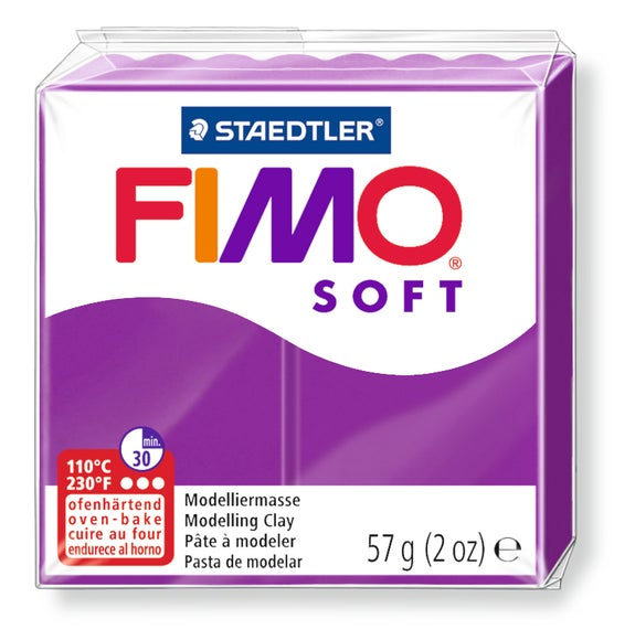 Achat en ligne Pâte à modeler à cuire violet Fimo Soft 8020-61 57g