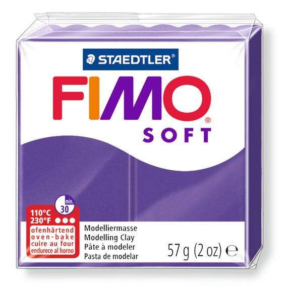 Achat en ligne Pâte à modeler à cuire prune Fimo Soft 8020-63 57g