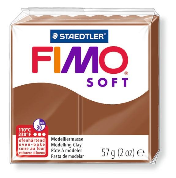 Achat en ligne Pâte à modeler à cuire caramel Fimo Soft 8020-7 57g