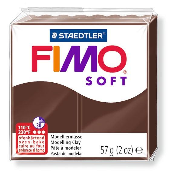 Achat en ligne Pâte à modeler à cuire chocolat Fimo Soft 8020-75 57g