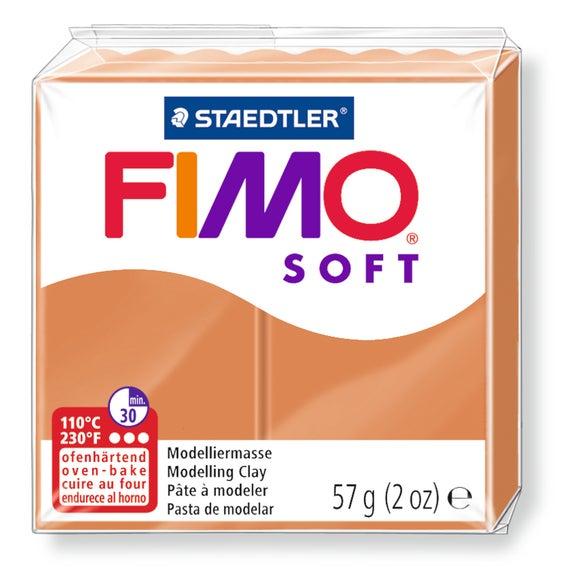 Achat en ligne Pâte à modeler à cuire cognac Fimo Soft 8020-76 57g