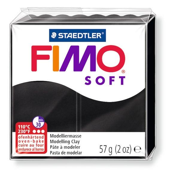 Achat en ligne Indispensables Pâte à modeler à cuire noir Fimo Soft 8020-9