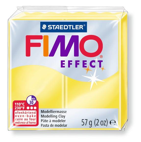 Achat en ligne Pâte à modeler à cuire jaune Fimo Effect 8020-104 57g