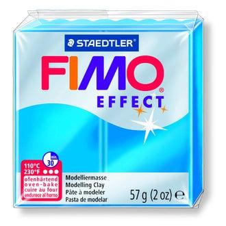 Pâte Fimo à cuire bleu translucide Fimo Effect 8020-374 57g