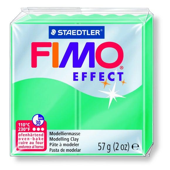 Pâte Fimo à cuire vert translucide Fimo Effect 8020-504 57g