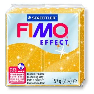Pâte à modeler à cuire or pailletté fimo effect 8020-112 57g
