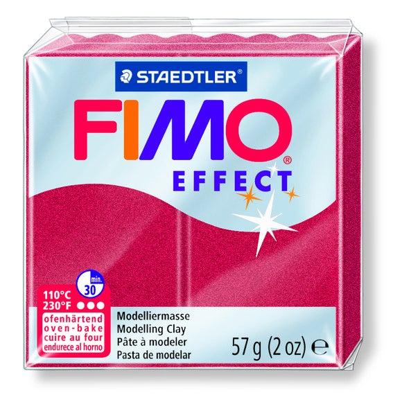 Pâte à modeler à cuire rubis métal Fimo Effect 8020-28 57g