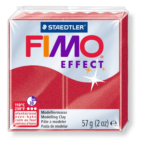 Achat en ligne Pâte à modeler à cuire rubis métal Fimo Effect 8020-28 57g