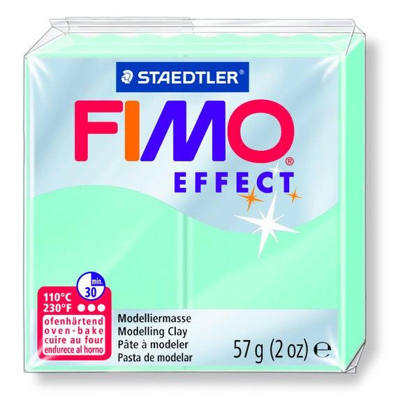 Pâte à modeler à cuire menthe Fimo Effect 8020-505 57g