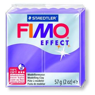 Pâte à modeler à cuire lilas translucide Fimo Effect 8020-604 57g