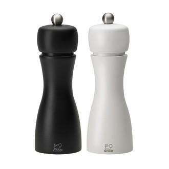 Peugeot - duo de moulins à poivre et sel noir et blanc tahiti 15cm