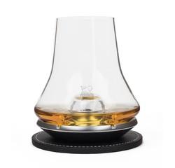 Achat en ligne Verre dégustation whisky avec sous verre socle métal