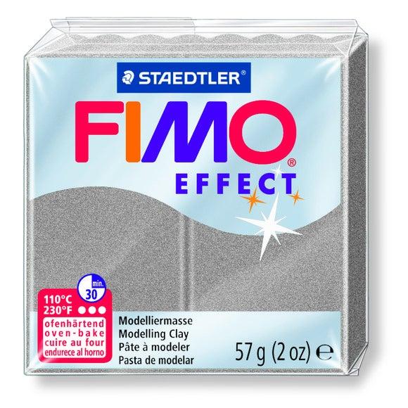 Pâte à modeler à cuire gris perle Fimo Effect 8020-817 57g