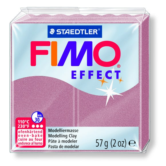 Pâte à modeler à cuire rose perle Fimo Effect 8020-207 57g