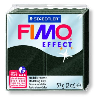 Pâte à modeler à cuire noir perle Fimo Effect 8020-907 57g
