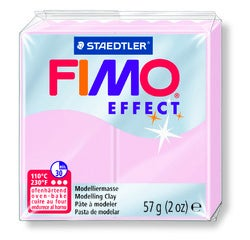 Achat en ligne Pâte à modeler à cuire rose quartz Fimo Effect 8020-206 57g