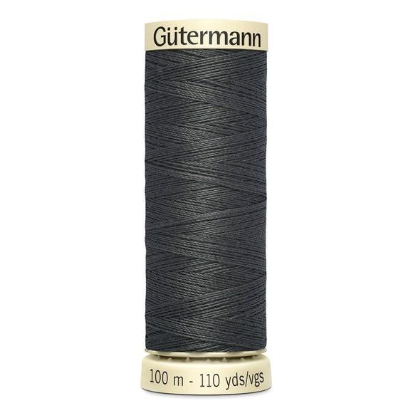 Fil à coudre gris en polyester N°36 100m