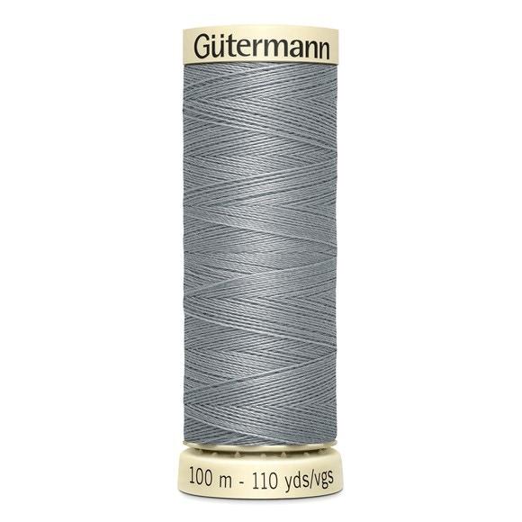 Fil à coudre gris en polyester N°40 100m