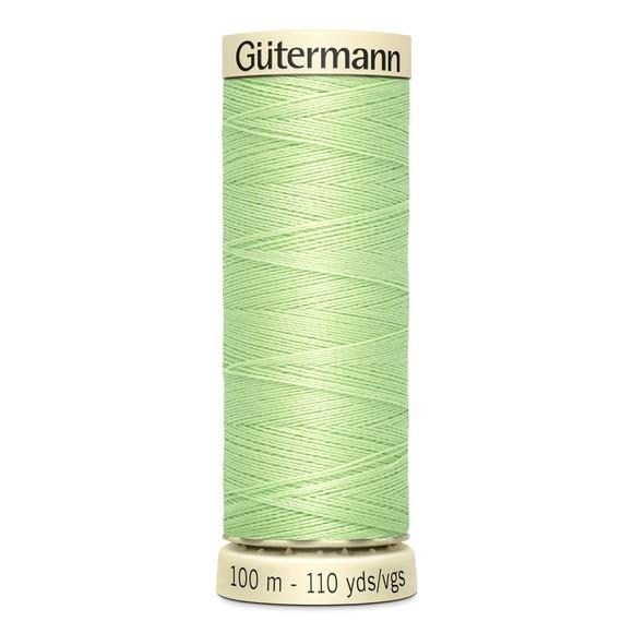 Fil à coudre vert en polyester N°152 100m