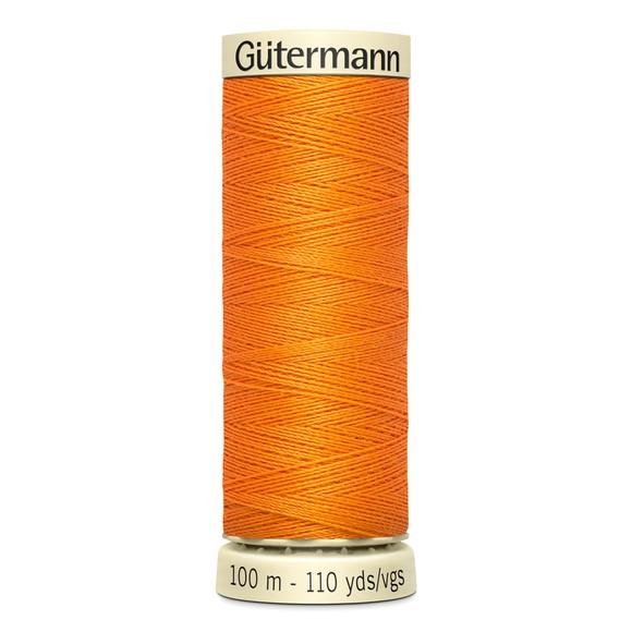 Fil à coudre orange en polyester N°350 100m