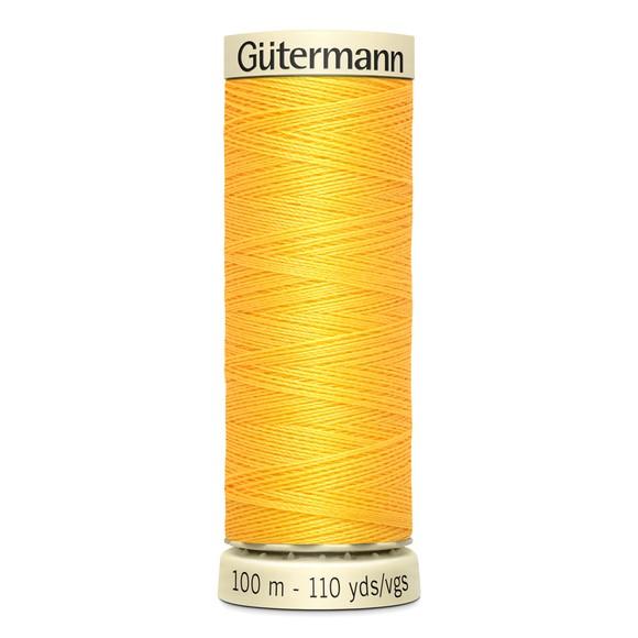Fil à coudre jaune en polyester N°417 100m