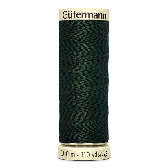 Fil à coudre vert en polyester N°472 100m