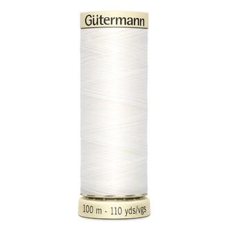 ECLAIR PRYM - Fil à coudre blanc en polyester N°800 100m