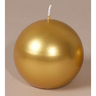 Bougie boule métallisée or Edelglanz 9cm