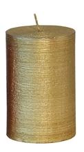 Achat en ligne Bougie cylindrique striée or glory 10x6,8cm
