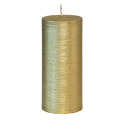 Achat en ligne Bougie cylindrique striée or glory 15x6,8cm