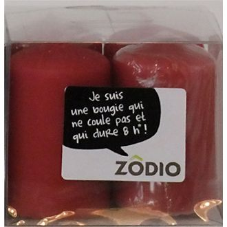 Zodio - 4 bougies votives cranberry 6,5x4cm
