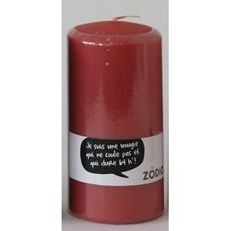 Zodio - bougie cylindrique cranberry 15x7,7cm