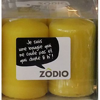 Zodio - 4 bougies votives moutarde 6,5x4cm