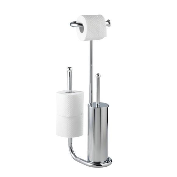 Valet wc avec porte brosse, dérouleur et porte papier