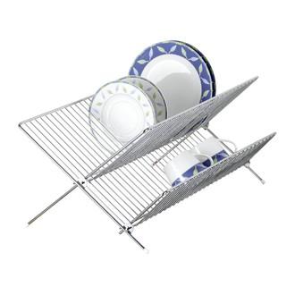 Egouttoir à vaisselle pliant en filaire chromé 48,5x32,5x8cm