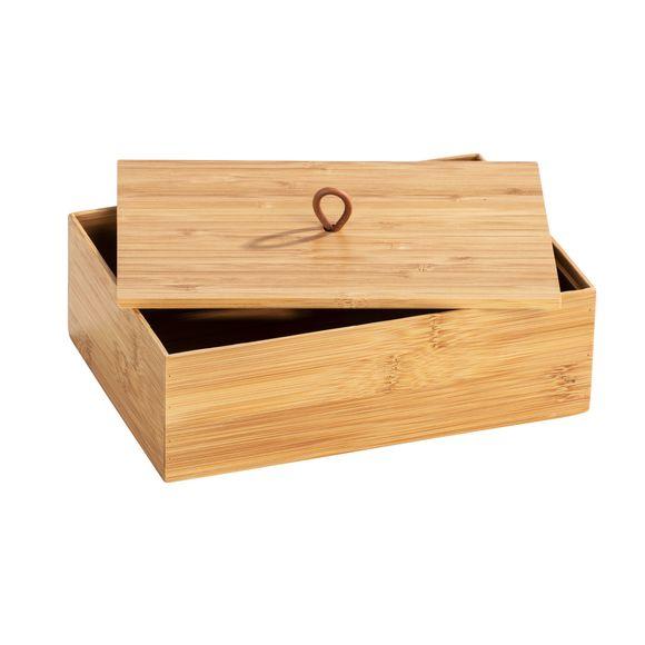 Scatola in bamboo con coperchio, misura L