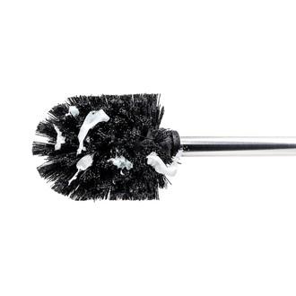 WENKO - brosse pour wc avec tête en silicone et manche en métal diamètre 7,5cm