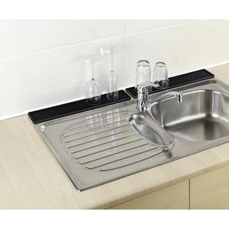 Tapis égouttoir à vaisselle slim noir 42cm
