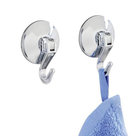 Set di 2 ganci per asciugamani a ventosa 4 x 5,6 x 2,5cm