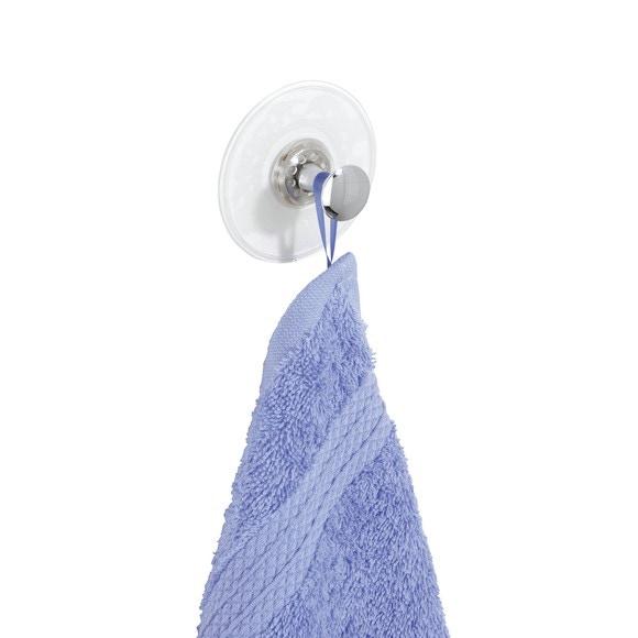 Crochet torchon à ventouse chromé Altero 7x4,5cm