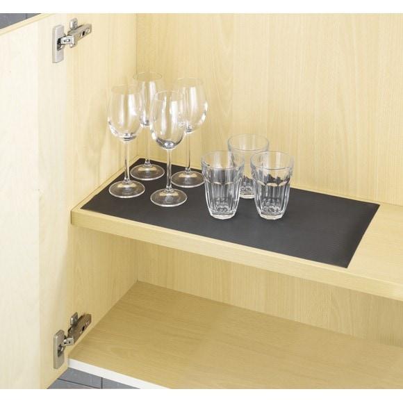 Tapis fond de tiroir noir 150x50cm