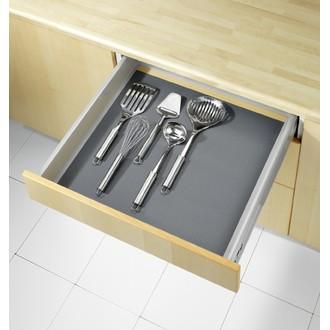 WENKO - Tapis fond de tiroir gris épais 150x50cm