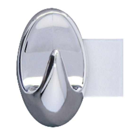 Set di 3 mini ganci per strofinacci adesivi cromati