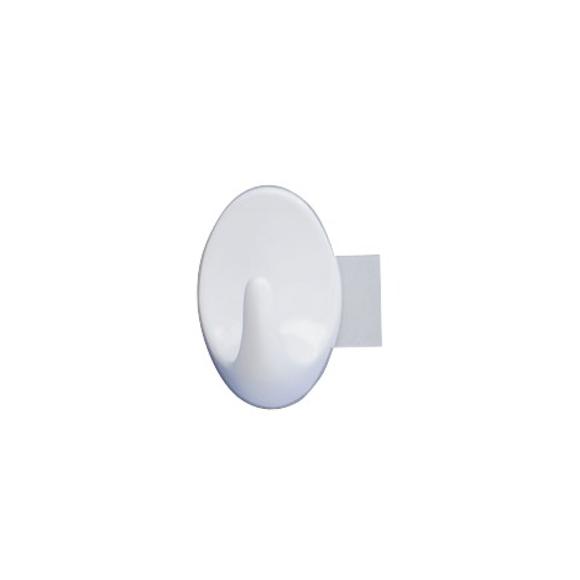 Set 2 ganci per asciugamani adesivi maxi strip-it bianchi 3x5x2cm
