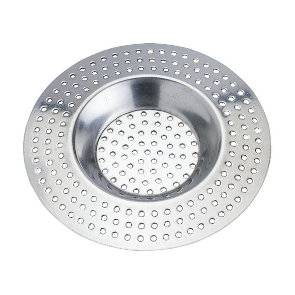 Filtro doccia per capelli con finitura cromata diametro 7cm