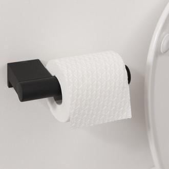 Dérouleur papier toilette noir mat