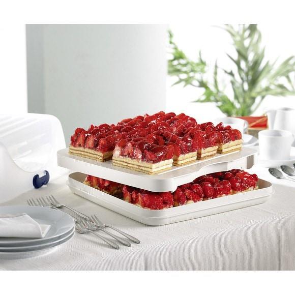 compra en línea Campana o caja transportadora para tartas plástico (37 x 35)