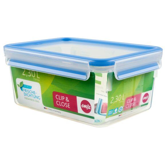Boite de conservation rectangulaire Clip&Close en plastique 2,3L